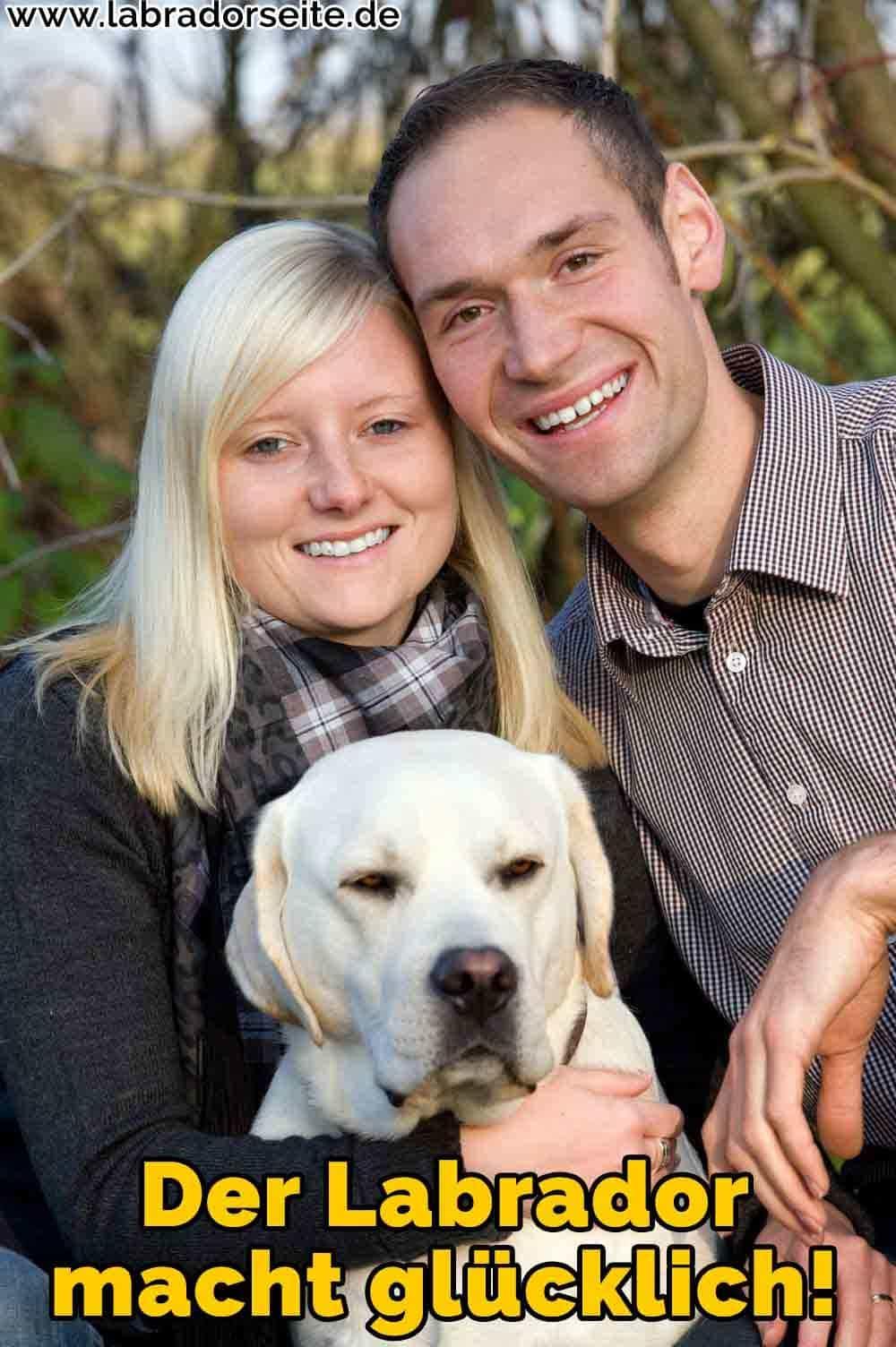 Eine Familie und ihre Labrador